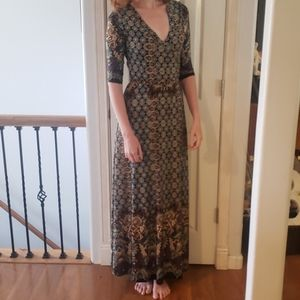 Casual pull on maxi dress